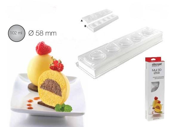 5連球型矽膠模 / 廠牌: Silikomart 25.301.99.0065