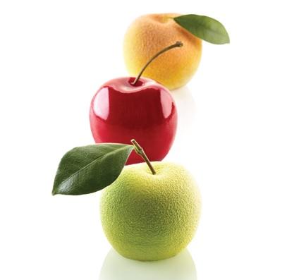 5連蘋果.莓果.梨子矽膠模 / 直徑60 x h55   | Silikomart 28.313.87.0065
